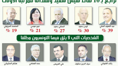 Photo of سيغما كونساي : قيس سعيّد يفقد المرتبة الأولى في مؤشر الثقة
